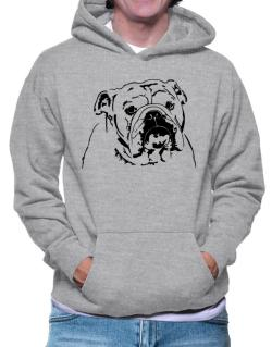 American Bulldog Face Special Graphic Hoodie