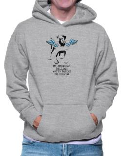 My American Bulldog Waits For Me In Heaven Hoodie