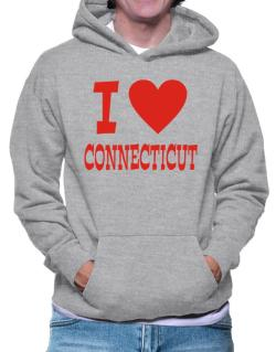 I Love Connecticut Hoodie