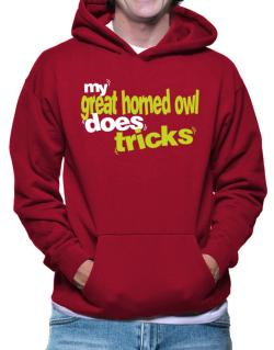 My Great Horned Owl Does Tricks Hoodie