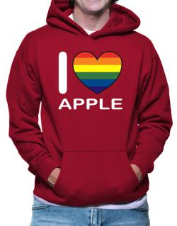 I Love Apple - Rainbow Heart Hoodie