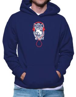 Llama with headphones Hoodie