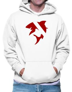 Diver down Shark Scuba Diving Hoodie