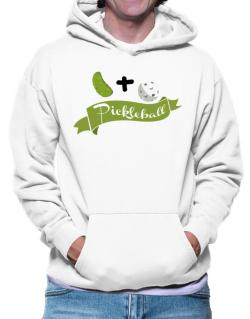 Pickle plus ball equals pickleball Hoodie