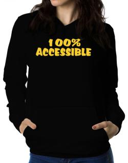 100% Accessible Women Hoodie