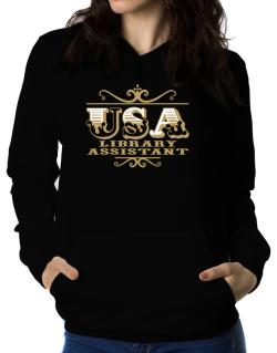 Usa Library Assistant Women Hoodie