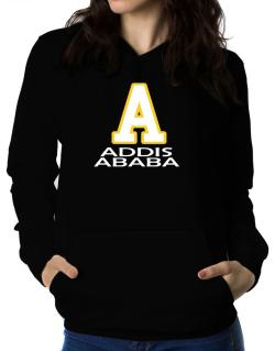 """ Addis Ababa - Initial "" Women Hoodie"