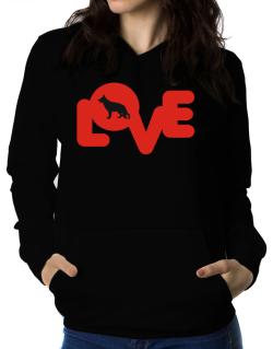 Love Silhouette German Shepherd Women Hoodie