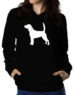 Beagle Silhouette Embroidery Women Hoodie