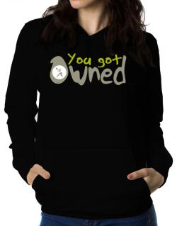 """  YOU GOT OWNED Pickleball  "" Women Hoodie"