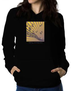 Glitch - Musical Notes Women Hoodie