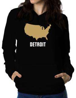 Detroit - Usa Map Women Hoodie