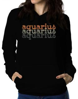 Aquarius repeat retro Women Hoodie