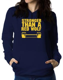 Stronger Than A Red Wolf Women Hoodie