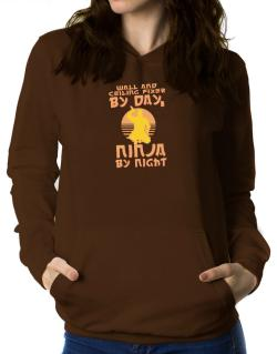 Wall And Ceiling Fixer By Day, Ninja By Night Women Hoodie
