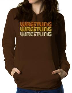 Wrestling Retro Color Women Hoodie