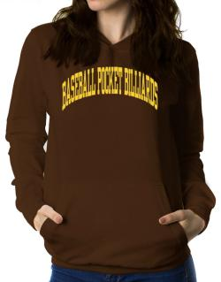 Baseball Pocket Billiards Athletic Dept Women Hoodie