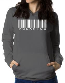 Aquarius Barcode / Bar Code Women Hoodie