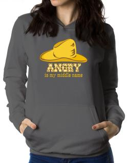 Angry Is My Middle Name Women Hoodie