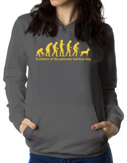 Evolution Of The Peruvian Hairless Dog Women Hoodie