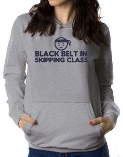 Black Belt In Skipping Class Women Hoodie