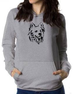 American Eskimo Dog Face Special Graphic Women Hoodie