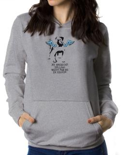 My American Bulldog Waits For Me In Heaven Women Hoodie
