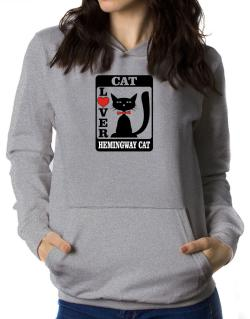Cat Lover - Hemingway Cat Women Hoodie