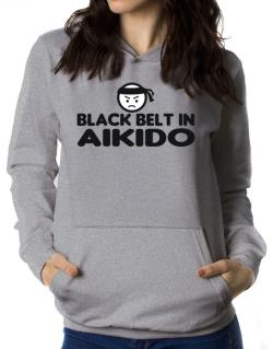 Black Belt In Aikido Women Hoodie