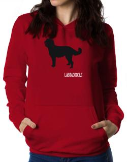 Labradoodle Stencil / Chees Women Hoodie