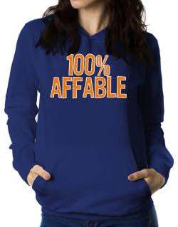 100% Affable Women Hoodie