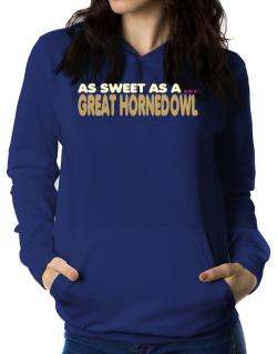 As Sweet As A Great Horned Owl Women Hoodie