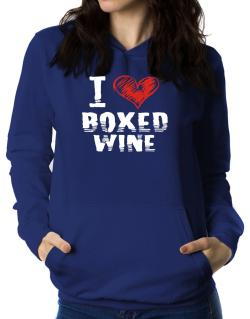 I love boxed wine Women Hoodie