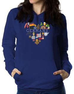 I love Germany Women Hoodie