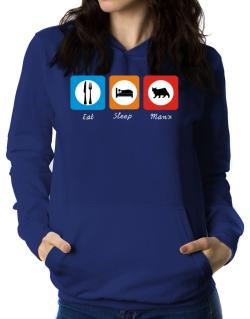 Eat sleep Manx Women Hoodie