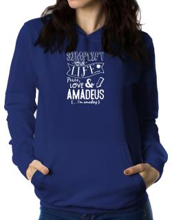 Simplify your life: Peace, love and Amadeus Women Hoodie