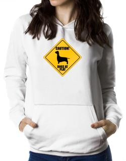 """ Dogs at play Dachshund ""  Women Hoodie"