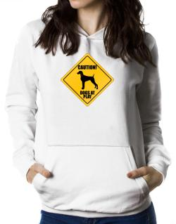 "Sudaderas Con Capucha de "" Dogs at play Weimaraner """