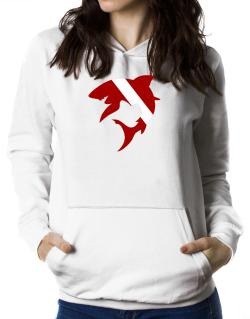 Diver down Shark Scuba Diving Women Hoodie