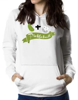 Pickle plus ball equals pickleball Women Hoodie