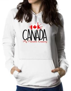 Canada my favorite country Women Hoodie