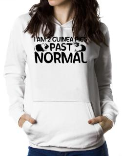 I am two guinea pigs past normal Women Hoodie