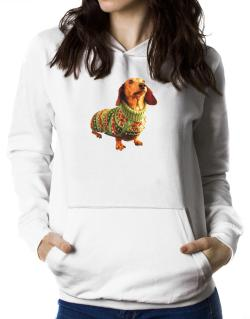 Dachshund christmas sweater Women Hoodie