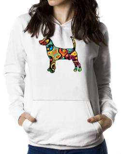 Psychedelic North Country Beagle Women Hoodie
