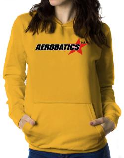 Aerobatics Usa Star Women Hoodie