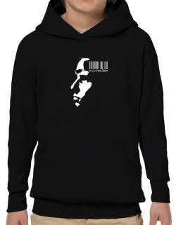 Australia - Barcode With Face Hoodie-Boys