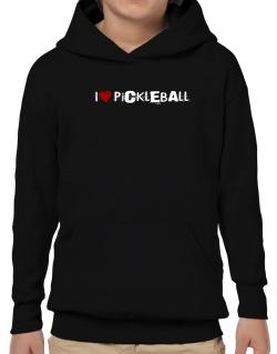Pickleball I Love Pickleball Urban Style Hoodie-Boys