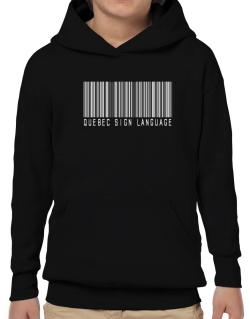 Quebec Sign Language Barcode Hoodie-Boys