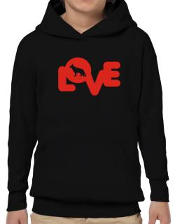 Love Silhouette German Shepherd Hoodie-Boys
