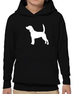 Beagle Silhouette Embroidery Hoodie-Boys